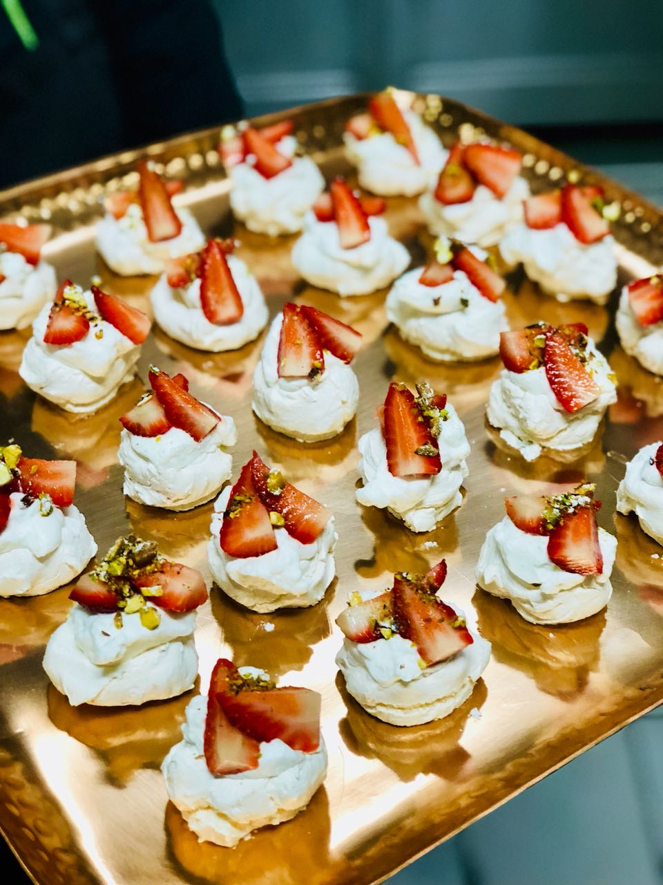 zest catering Mini Strawberry Pavlovas
