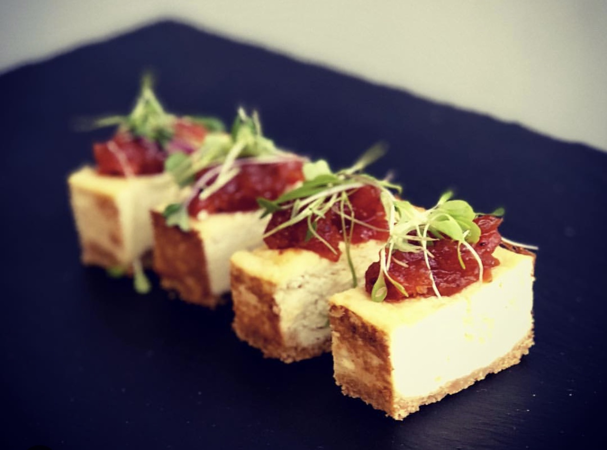 zest catering Smoked Cheesecake Canape