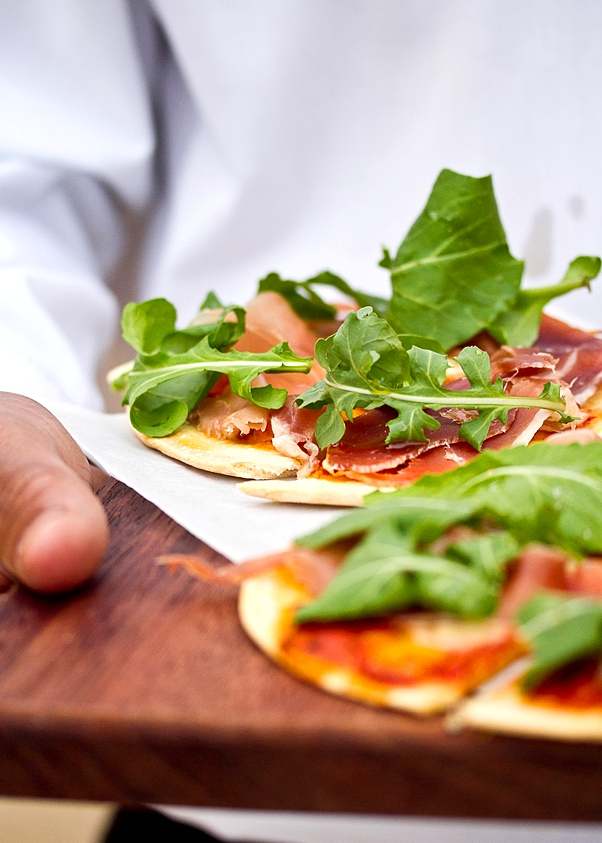zest catering rocket and parma pizza