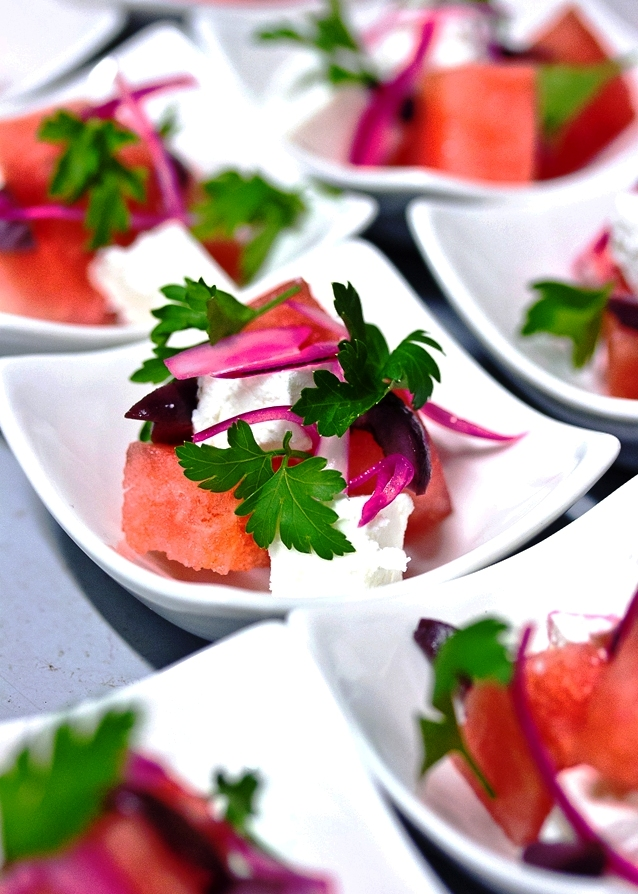 zest catering watermelon and feta salad